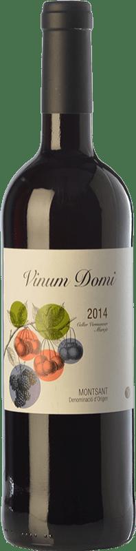 7,95 € Envío gratis | Vino tinto Vermunver Vinum Domi Joven D.O. Montsant Cataluña España Merlot, Garnacha, Cariñena Botella 75 cl