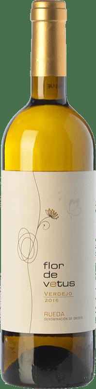 Free Shipping | White wine Vetus Flor de Vetus 2016 D.O. Rueda Castilla y León Spain Verdejo Bottle 75 cl