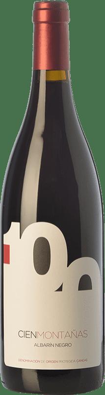 24,95 € Free Shipping | Red wine Vidas 100 Montañas Crianza D.O.P. Vino de Calidad de Cangas Principality of Asturias Spain Albarín Black Bottle 75 cl