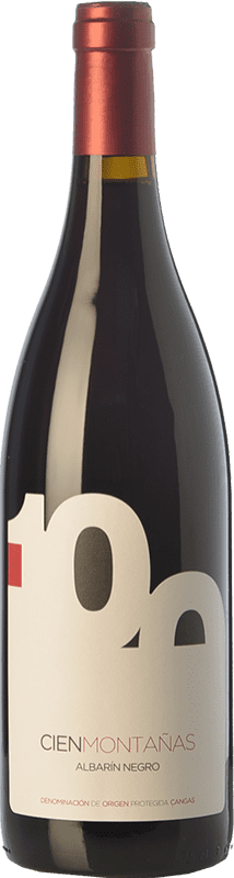 24,95 € Envoi gratuit | Vin rouge Vidas 100 Montañas Crianza D.O.P. Vino de Calidad de Cangas Principauté des Asturies Espagne Albarín Noir Bouteille 75 cl