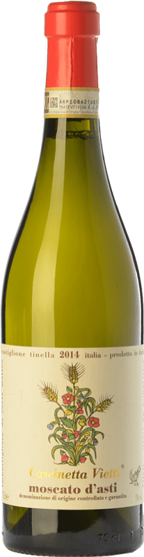14,95 € | Sweet wine Vietti Cascinetta D.O.C.G. Moscato d'Asti Piemonte Italy Muscatel White Bottle 75 cl