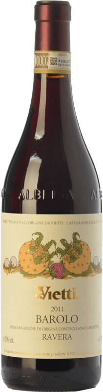 138,95 € | Red wine Vietti Ravera D.O.C.G. Barolo Piemonte Italy Nebbiolo Bottle 75 cl