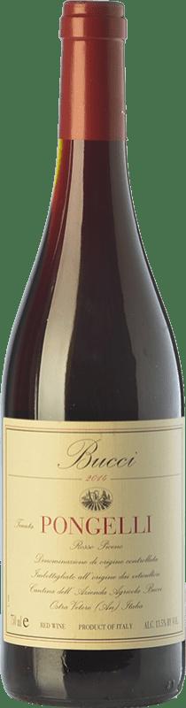 16,95 € | Red wine Villa Bucci Pongelli D.O.C. Rosso Piceno Marche Italy Sangiovese, Montepulciano Bottle 75 cl