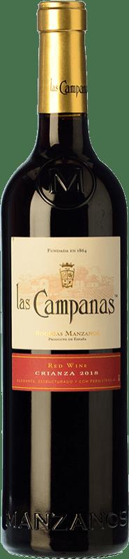 4,95 € 免费送货 | 红酒 Vinícola Navarra Las Campanas Crianza D.O. Navarra 纳瓦拉 西班牙 Grenache 瓶子 75 cl