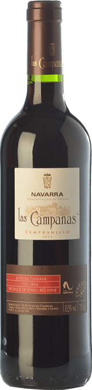 5,95 € Envoi gratuit | Vin rouge Vinícola Navarra Las Campanas Joven D.O. Navarra Navarre Espagne Tempranillo Bouteille 75 cl