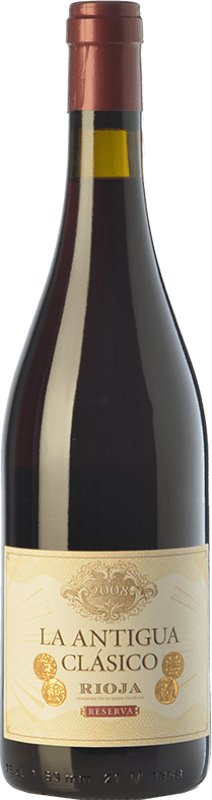 23,95 € | Red wine Vinos del Atlántico La Antigua Reserva D.O.Ca. Rioja The Rioja Spain Tempranillo, Grenache, Graciano Bottle 75 cl