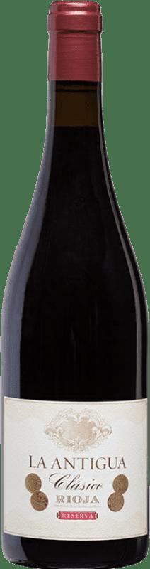 23,95 € Envoi gratuit | Vin rouge Vinos del Atlántico La Antigua Reserva D.O.Ca. Rioja La Rioja Espagne Tempranillo, Grenache, Graciano Bouteille 75 cl