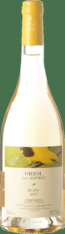 7,95 € Envío gratis | Vino blanco Aspres Oriol Blanc D.O. Empordà Cataluña España Garnacha Gris Botella 75 cl