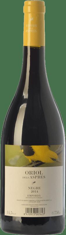 7,95 € Envío gratis | Vino tinto Aspres Oriol Negre Joven D.O. Empordà Cataluña España Garnacha, Cabernet Sauvignon, Cariñena Botella 75 cl