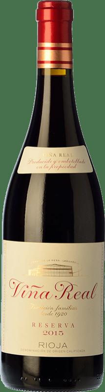 15,95 € Free Shipping | Red wine Viña Real Reserva D.O.Ca. Rioja The Rioja Spain Tempranillo, Grenache, Graciano, Mazuelo Bottle 75 cl