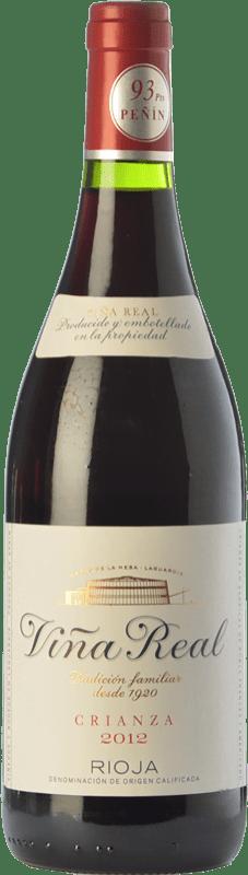 7,95 € Envío gratis   Vino tinto Viña Real Crianza D.O.Ca. Rioja La Rioja España Tempranillo, Garnacha, Graciano, Mazuelo Botella Mágnum 1,5 L