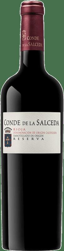 27,95 € Envío gratis | Vino tinto Viña Salceda Conde de la Salceda Reserva D.O.Ca. Rioja La Rioja España Tempranillo, Graciano Botella 75 cl