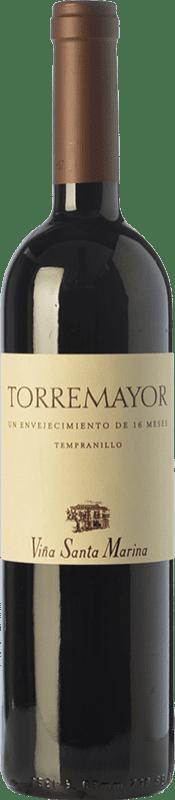 16,95 € Envío gratis | Vino tinto Santa Marina Torremayor Reserva I.G.P. Vino de la Tierra de Extremadura Extremadura España Tempranillo Botella 75 cl