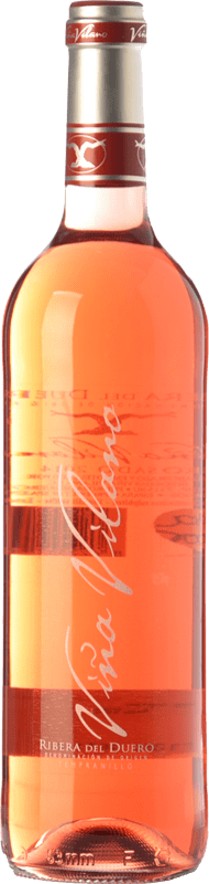 8,95 € 免费送货   玫瑰酒 Viña Vilano D.O. Ribera del Duero 卡斯蒂利亚莱昂 西班牙 Tempranillo 瓶子 75 cl