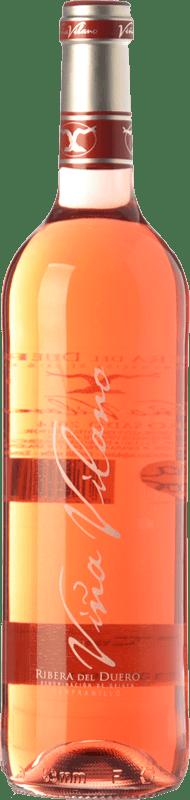 8,95 € Spedizione Gratuita | Vino rosato Viña Vilano D.O. Ribera del Duero Castilla y León Spagna Tempranillo Bottiglia 75 cl