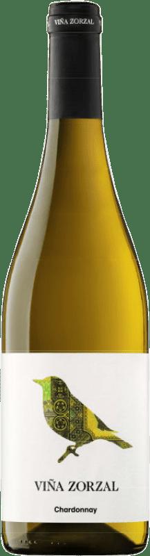 8,95 € Envío gratis | Vino blanco Viña Zorzal D.O. Navarra Navarra España Chardonnay Botella 75 cl