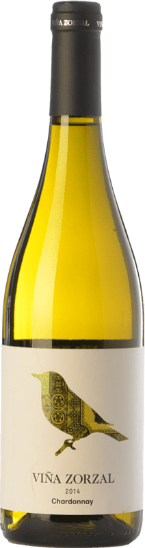 8,95 € Free Shipping | White wine Viña Zorzal D.O. Navarra Navarre Spain Chardonnay Bottle 75 cl