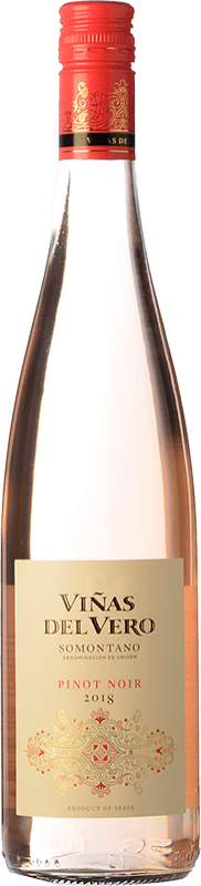 9,95 € Free Shipping | Rosé wine Viñas del Vero D.O. Somontano Aragon Spain Pinot Black Bottle 75 cl