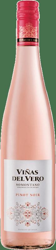 9,95 € Envío gratis | Vino rosado Viñas del Vero D.O. Somontano Aragón España Pinot Negro Botella 75 cl