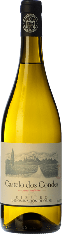 5,95 € 免费送货   白酒 Viñedos de Altura Castelo Dos Condes Joven D.O. Ribeiro 加利西亚 西班牙 Palomino Fino 瓶子 75 cl