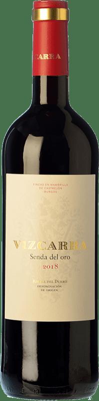 19,95 € Envío gratis | Vino tinto Vizcarra Senda del Oro Roble D.O. Ribera del Duero Castilla y León España Tempranillo Botella Mágnum 1,5 L