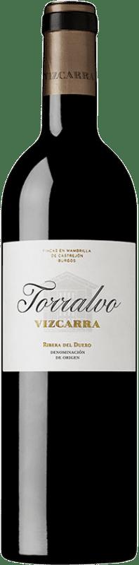 44,95 € 免费送货 | 红酒 Vizcarra Torralvo Crianza D.O. Ribera del Duero 卡斯蒂利亚莱昂 西班牙 Tempranillo 瓶子 75 cl