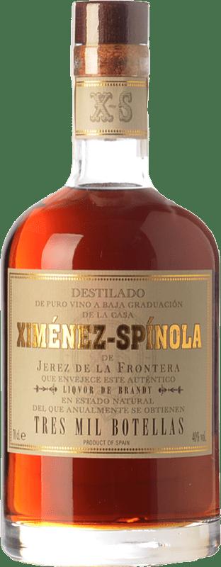 185,95 € Envío gratis | Brandy Ximénez-Spínola Solera Tres Mil Botellas D.O. Jerez-Xérès-Sherry Andalucía España Botella 70 cl