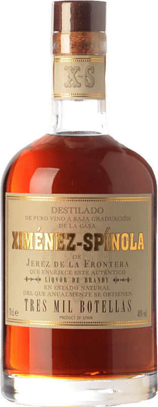 185,95 € Free Shipping | Brandy Ximénez-Spínola Solera Tres Mil Botellas D.O. Jerez-Xérès-Sherry Andalusia Spain Bottle 70 cl