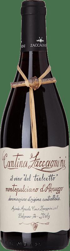 9,95 € 免费送货 | 红酒 Zaccagnini Tralcetto D.O.C. Montepulciano d'Abruzzo 阿布鲁佐 意大利 Montepulciano 瓶子 75 cl