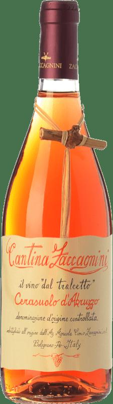 9,95 € 免费送货 | 玫瑰酒 Zaccagnini Tralcetto D.O.C. Cerasuolo d'Abruzzo 阿布鲁佐 意大利 Montepulciano 瓶子 75 cl