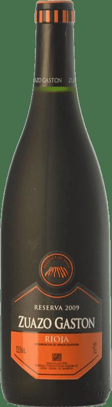 16,95 € Envío gratis | Vino tinto Zuazo Gaston Reserva D.O.Ca. Rioja La Rioja España Tempranillo Botella 75 cl