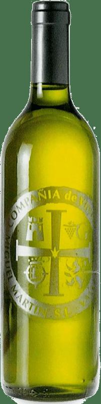 4,95 € Envío gratis | Vino blanco Thesaurus Cosechero Joven España Viura Botella 75 cl