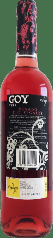 5,95 € Envio grátis | Vinho rosé Thesaurus Viña Goy Joven D.O. Cigales Castela e Leão Espanha Tempranillo Garrafa 75 cl