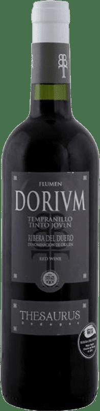 6,95 € Envio grátis | Vinho tinto Thesaurus Flumen Dorium Roble D.O. Ribera del Duero Castela e Leão Espanha Tempranillo Meia Garrafa 50 cl