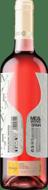 Rosé wine Esencias ME&Rosé Joven D.O. Cigales Castilla y León Spain Tempranillo Bottle 75 cl