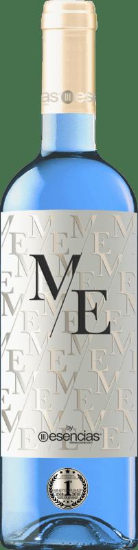 9,95 € Kostenloser Versand | Weißwein Esencias ME&Blue Spanien Chardonnay Flasche 75 cl