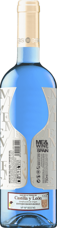 Белое вино Esencias ME&Blue Испания Chardonnay бутылка 75 cl