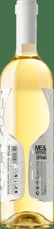 Vino blanco Esencias ME&White I.G.P. Vino de la Tierra de Castilla y León España Verdejo Botella 75 cl