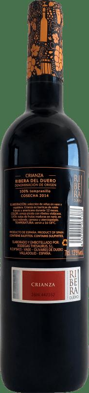 9,95 € Free Shipping   Red wine Thesaurus Fortaleza de Trigueros Crianza D.O. Ribera del Duero Castilla y León Spain Tempranillo Bottle 75 cl