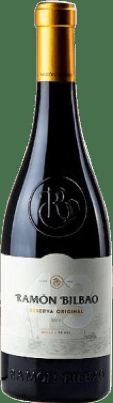 23,95 € Free Shipping   Red wine Ramón Bilbao Reserva Original 43 Reserva D.O.Ca. Rioja The Rioja Spain Tempranillo Bottle 75 cl