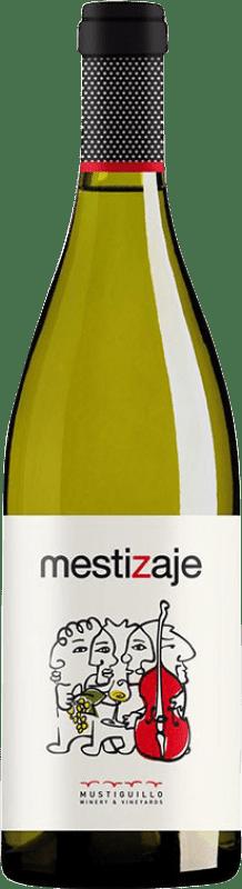 16,95 € Free Shipping | White wine Mustiguillo Mestizaje Blanco D.O.P. Vino de Pago El Terrerazo Spain Malvasía, Viognier, Merseguera Magnum Bottle 1,5 L