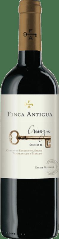 8,95 € Free Shipping | Red wine Finca Antigua Crianza D.O. La Mancha Castilla la Mancha Spain Syrah Bottle 75 cl