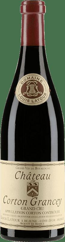 347,95 € Free Shipping | Red wine Louis Latour Château Corton Grancey 1998 A.O.C. Corton Burgundy France Pinot Black Bottle 75 cl