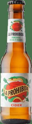 43,95 € Free Shipping | 24 units box Cider La Prohibida Cider Small Bottle 25 cl