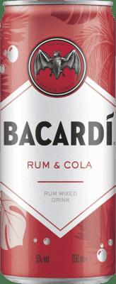 57,95 € Free Shipping   24 units box Soft Drinks & Mixers Bacardí Bacardí & Cola Lata 25 cl
