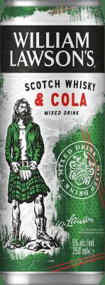 57,95 € Free Shipping   24 units box Soft Drinks & Mixers William Lawson's Lawson's & Cola Lata 25 cl
