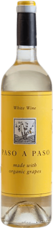 5,95 € Free Shipping | White wine Volver Paso a Paso Crianza I.G.P. Vino de la Tierra de Castilla Castilla la Mancha y Madrid Spain Macabeo, Verdejo Bottle 75 cl