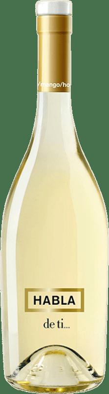 19,95 € Envío gratis | Vino blanco Habla de Ti Joven Andalucía y Extremadura España Sauvignon Blanca Botella Mágnum 1,5 L