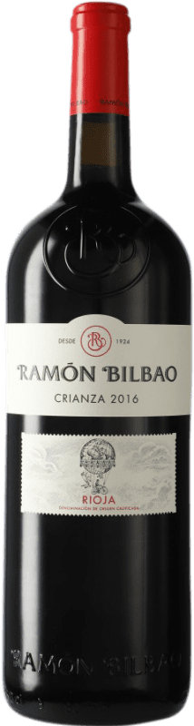 29,95 € | Red wine Ramón Bilbao Crianza D.O.Ca. Rioja The Rioja Spain Tempranillo Jéroboam Bottle-Double Magnum 3 L