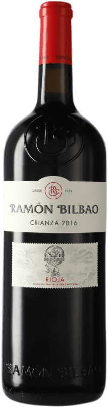 16,95 € Envoi gratuit | Vin rouge Ramón Bilbao Crianza D.O.Ca. Rioja La Rioja Espagne Tempranillo Bouteille Magnum 1,5 L